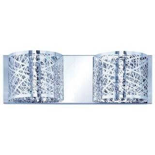 Inca 2-light LED Polished Chrome Bath Vanity