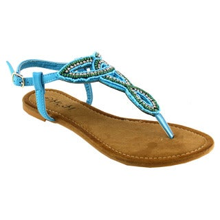 MI.IM AGATA Beaded Slingback Sandals