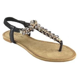 MI.IM ADELA Rhinestone Thong Sandals