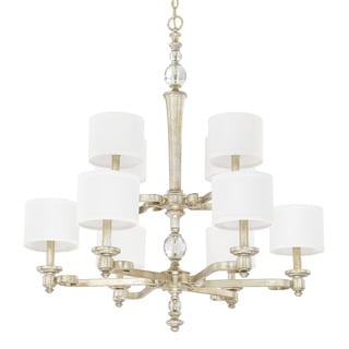 Capital Lighting Carlyle Collection 10-light Gilded Silver Chandelier