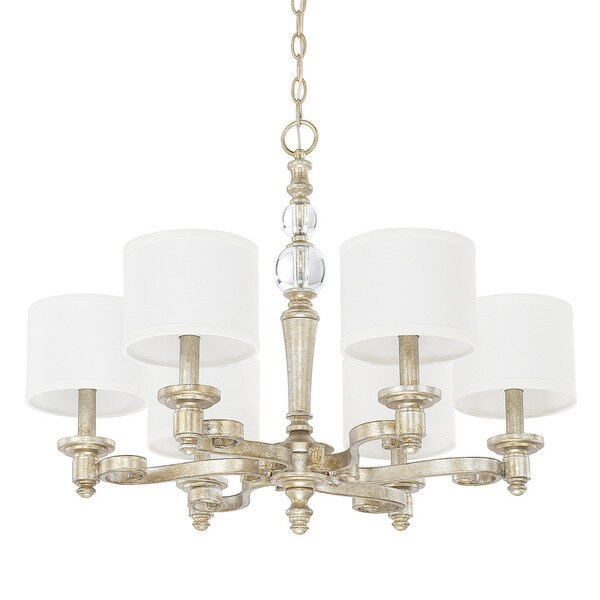Capital Lighting Carlyle Collection 6-light Gilded Silver Chandelier  sc 1 st  Overstock.ca & Shop Capital Lighting Carlyle Collection 6-light Gilded Silver ...