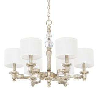Capital Lighting Carlyle Collection 6-light Gilded Silver Chandelier