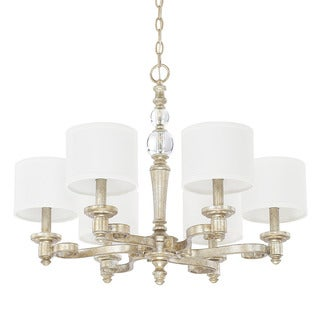 Capital Lighting Carlyle Collection 6-light Gilded Silver Chandelier - N/A