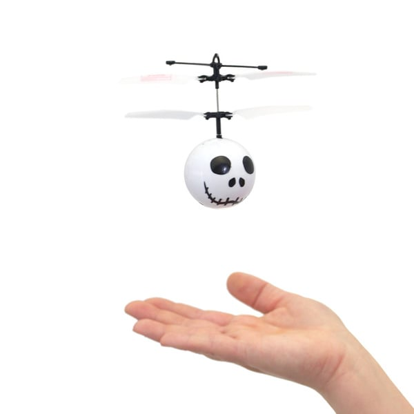 Mukikim Mini Flyer Skeleton - Infrared Indoor flying toy - Black/White