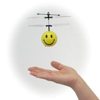 Mini Flyer Smiley - Infrared Indoor flying toy - Yellow