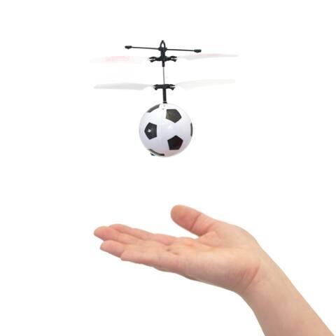 Mini Flyer Soccer - Infrared Indoor flying toy - Black/White