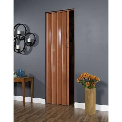 32 Inch x 96 Inch Folding Door in Pecan Brown