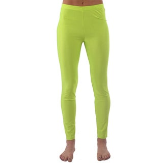 Women's Footless Neon-Yellow Ballerina Leggings