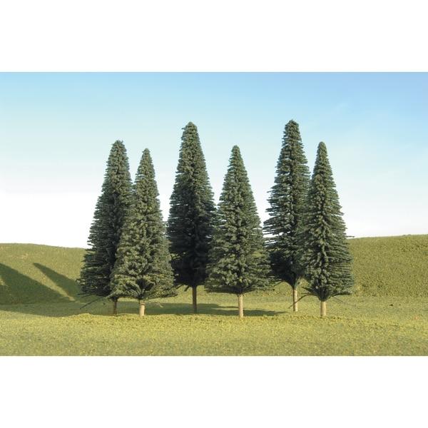 Bachmann Trains 5-inch- 6-inch Pine Trees (6 Per Box) - HO Scale