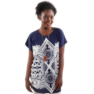Hadari Women's Floral Short Sleeve Fashion Blouse