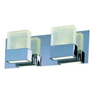 Fizz III 4-light LED Polished Chrome Bath Vanity