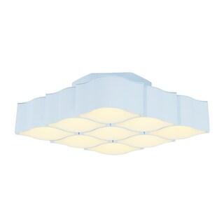 Billow 9-light LED Matte White Wall Sconce