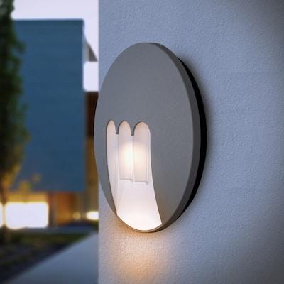 Alumilux DC 3-light LED Grey Aluminum Outdoor Wall Mount Light