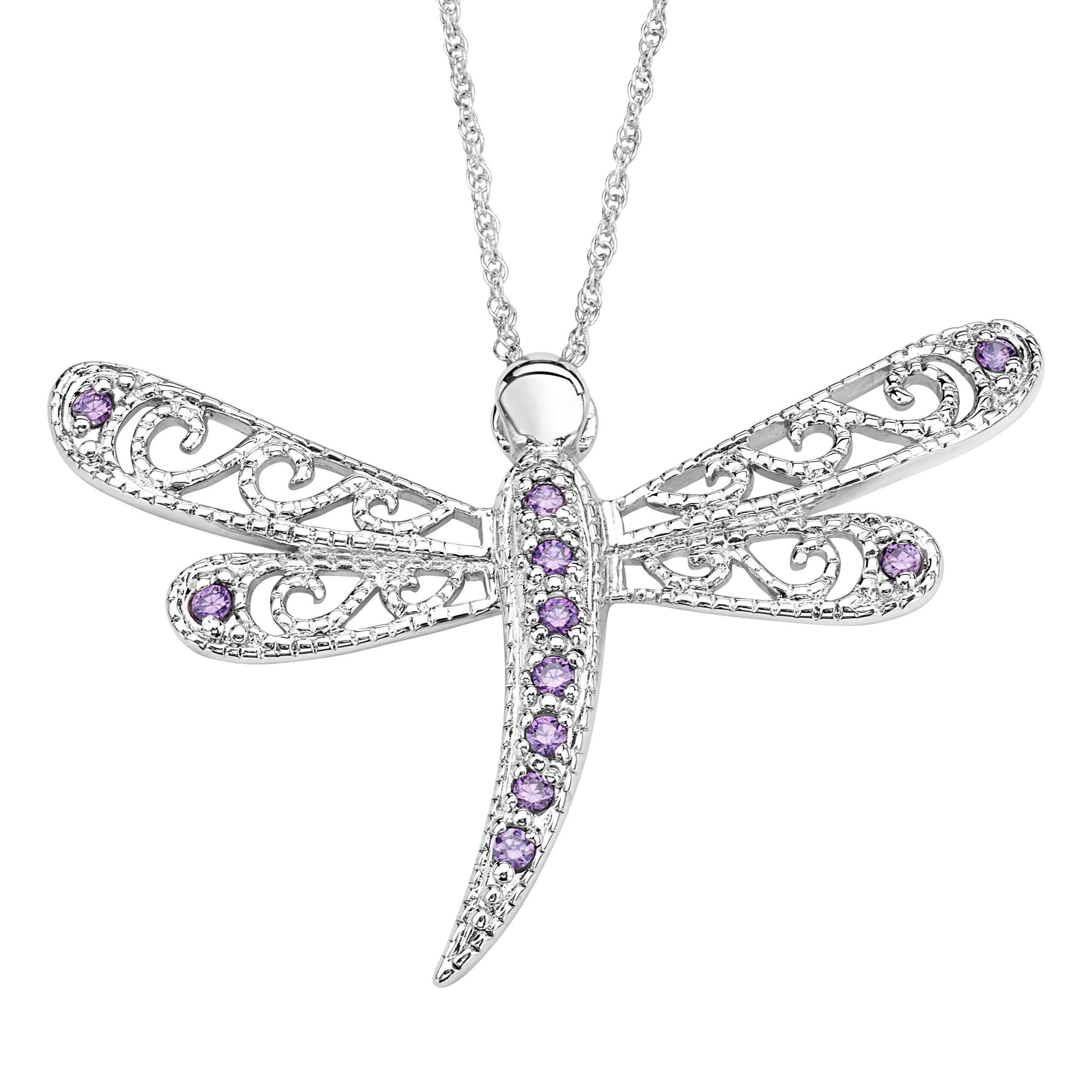 sizes 6-9 Sterling Silver Cubic Zirconia Dragonfly Ring Micro Pave