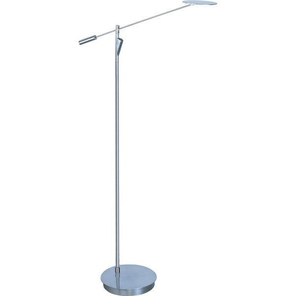 Eco-task 1-light LED Satin Nickel Floor Lamp