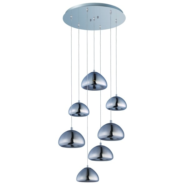 Vive 7-light LED Polished Chrome Pendant Light Fixture
