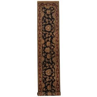 Herat Oriental Indo Hand-knotted Khorasan Wool Runner (2'7 x 13'10)