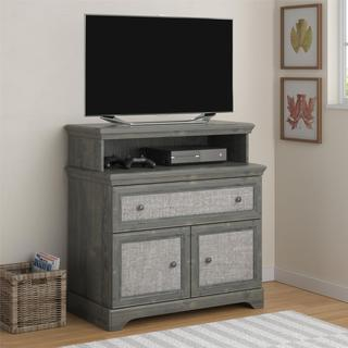 Ameriwood Home Stone River Rodeo Oak Media Dresser with Fabric Insert