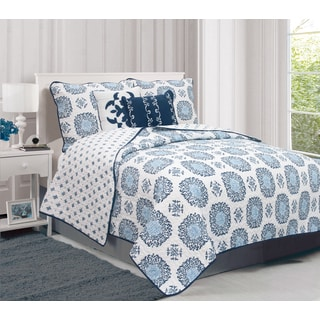Home Fashion Designs Filigree Collection 5-piece Quilt Set with Shams and Dec Pillows