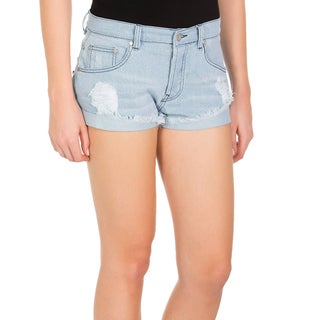 Minkpink Keepsake Denim Frayed Shorts