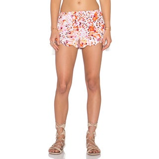 Minkpink Sea Animal Pink Floral Tassel Shorts