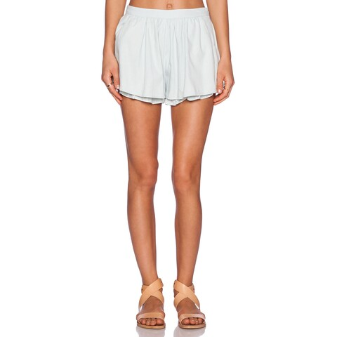 Minkpink Women's Summer Time Shadow Chambray Layered Shorts