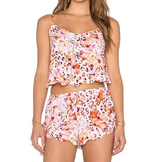Minkpink Sea Animal Pink Floral Scalloped Cami