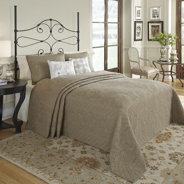Nostalgia Home Valinda Mocha Reversible Bedspread
