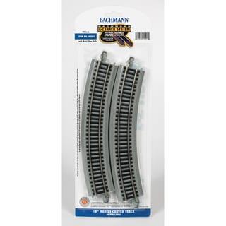 Bachmann Trains 18 Radius Curved Nickel Silver E-Z Track (4/Card) HO Scale