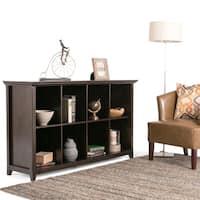 WYNDENHALL Halifax Dark Brown 8 Cube Storage/ Sofa Table
