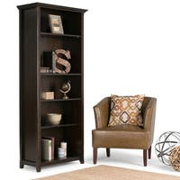 WYNDENHALL Halifax Solid Wood 70 inch x 30 inch Transitional 5 Shelf Bookcase - 30 Inches wide