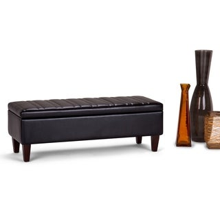 WYNDENHALL Garret Storage Ottoman Bench
