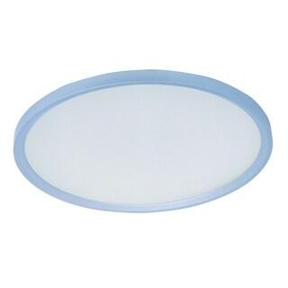 Moonbeam 1-light LED Silver Flush Mount Light