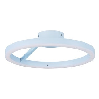 Cirque LED Matte White Flush Mount Light