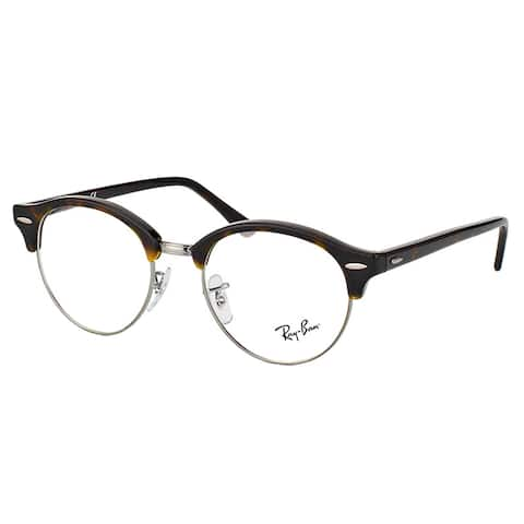 Ray-Ban RX 4246V 2012 Clubround Dark Havana And Silver Plastic Clubmaster 49mm Eyeglasses
