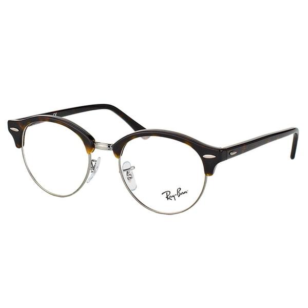 fc49271bec7 Ray-Ban RX 4246V 2012 Clubround Dark Havana And Silver Plastic Clubmaster  49mm Eyeglasses