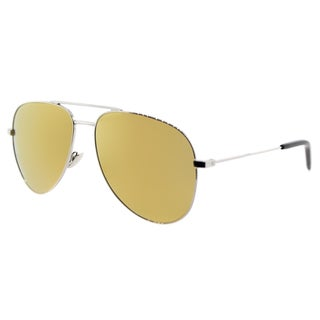 Saint Laurent SL Classic 11 006 Silver Metal Aviator Gold Mirror Lens Sunglasses