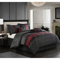 Nanshing Corell Red/Black 7-piece Comforter Set