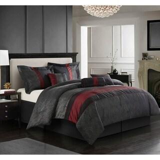 Nanshing Corell Red/Black 7-piece Comforter Set