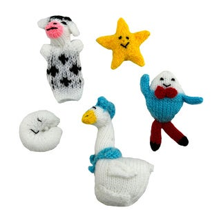 Mother Goose 5-piece Finger Puppet Set (Peru)