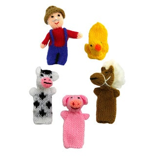 Old McDonald 5-piece Finger Puppet Set (Peru)