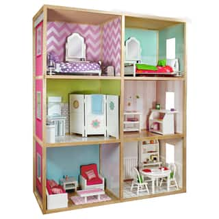 Wicked Cool Toys My Girl's Dollhouse for 18'' Dolls Modern Style|https://ak1.ostkcdn.com/images/products/11711787/P18633837.jpg?impolicy=medium
