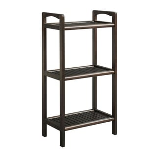 New Ridge Home Abingdon Espresso Solid Birch Wood 3-shelf Tower