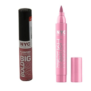 N.Y.C. Big Bold Plumping and Shine 2-piece Lip Set