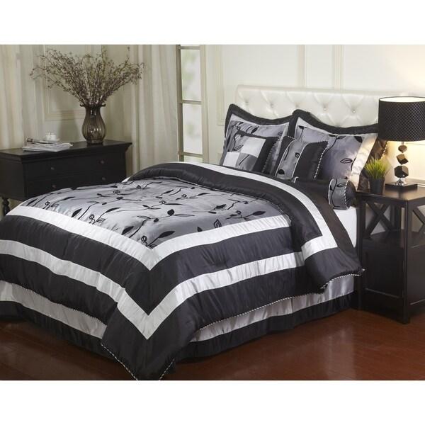 Nanshing Pastora Silver 7-piece Bedding Comforter Set