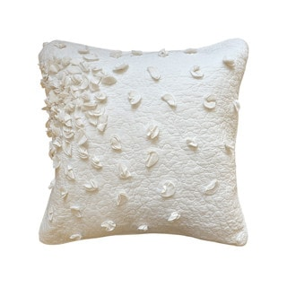 Nostalgia Home Petals European Square White Sham
