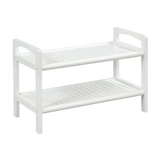 New Ridge Home Abingdon Solid Birch Wood White Large Bench