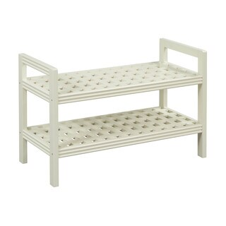 New Ridge Home Beaumont Solid Birch Linen Wood Bench