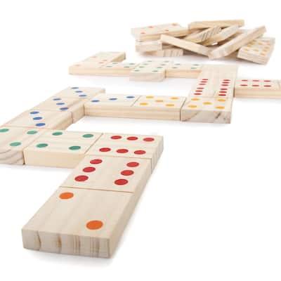 Hey! Play! Giant Wooden Dominoes Set