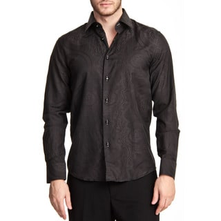 TR Premium's Paisley Printed Long Sleeve Button Down Shirt